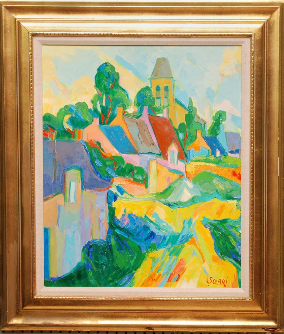 Raymond Solari (French 20th Century) oil on canvas, Tit