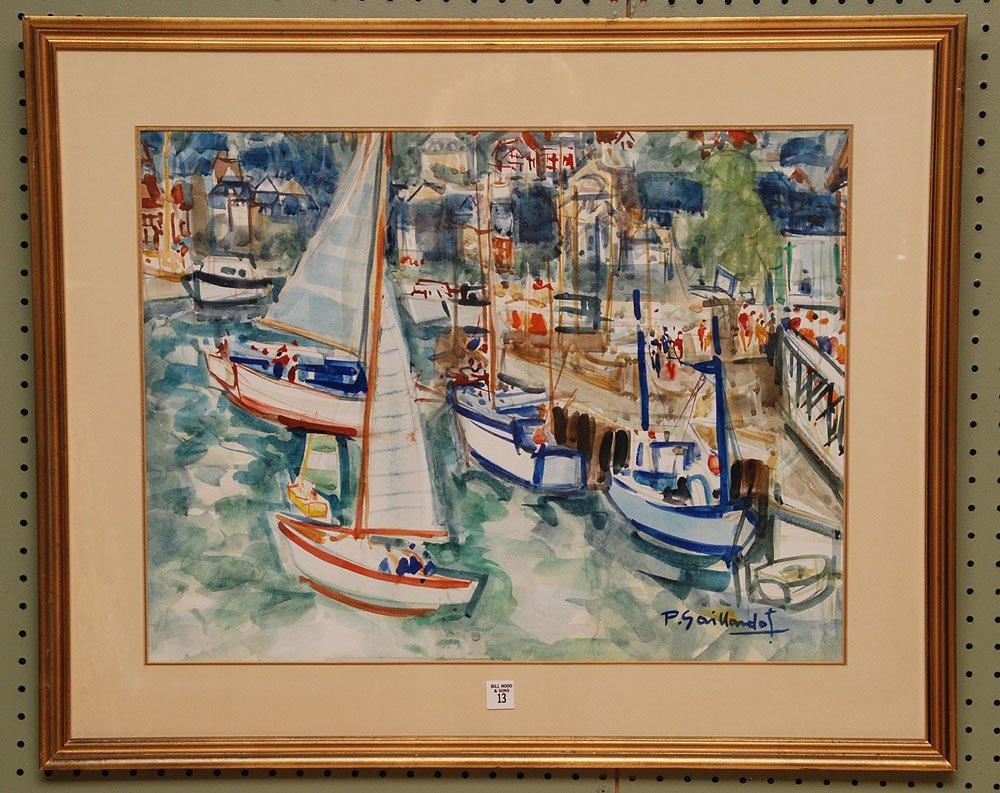 Pierre Gaillardot  (French 1910 - 2002) Watercolor, sai