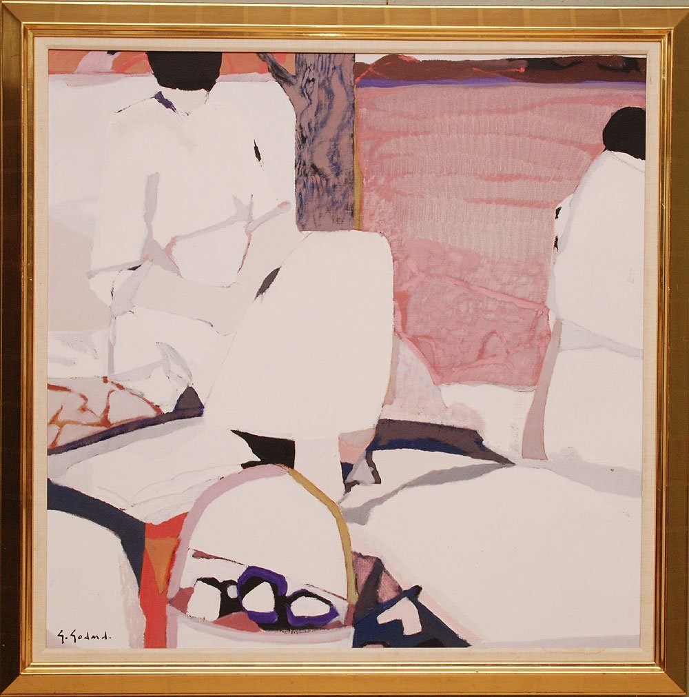 Gabriel Godard (French b. 1933 - )  oil on canvas, Abst