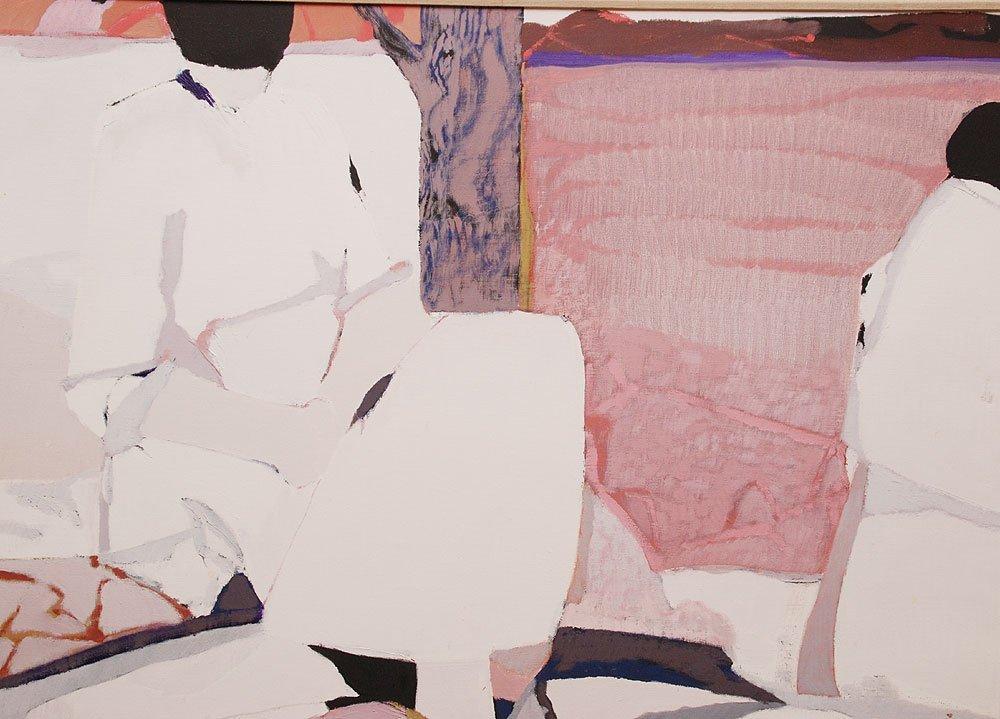 Gabriel Godard (French b. 1933 - )  oil on canvas, Abst - 2