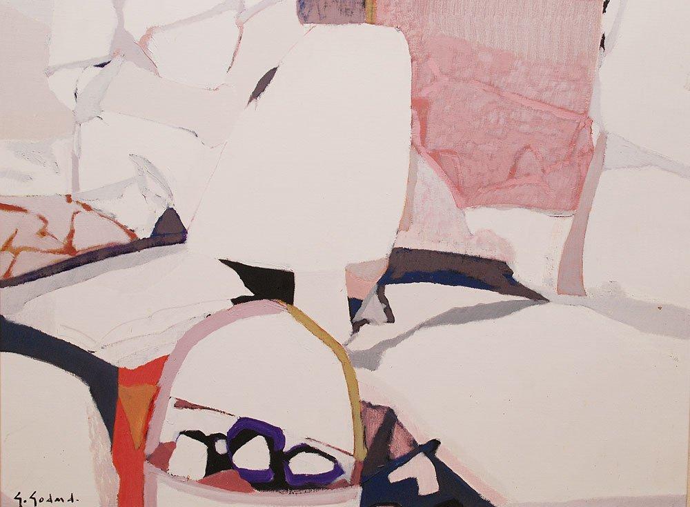Gabriel Godard (French b. 1933 - )  oil on canvas, Abst - 3
