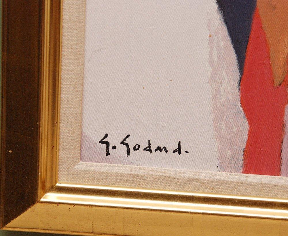 Gabriel Godard (French b. 1933 - )  oil on canvas, Abst - 4