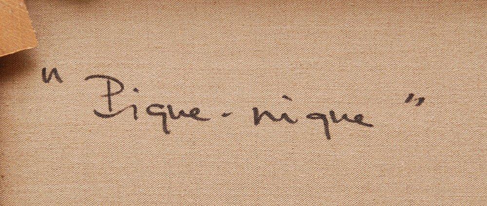 Gabriel Godard (French b. 1933 - )  oil on canvas, Abst - 6