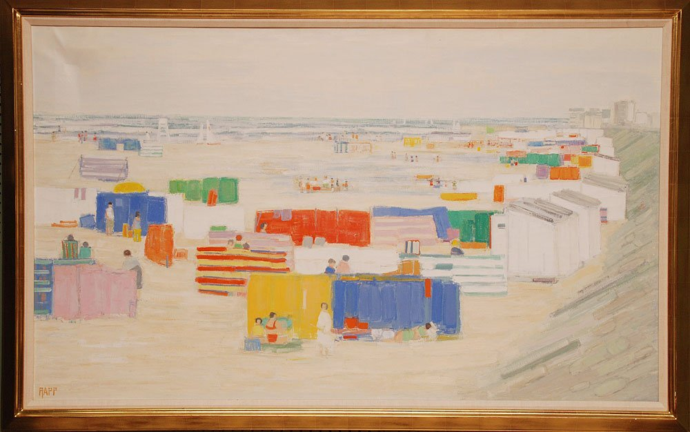 Ginette Rapp  (American 1928 - 1998) Large oil on canva
