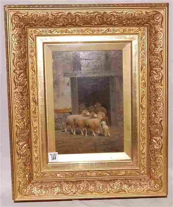 "Charles T. Phelan  (American 1840 - ) ""Sheep in the Bar"