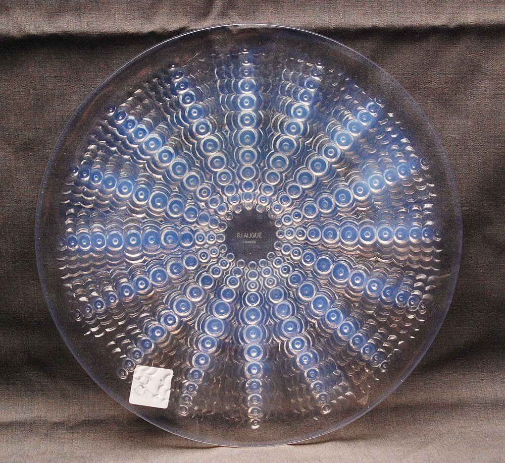 "Lalique France serving dish, 11""dia"
