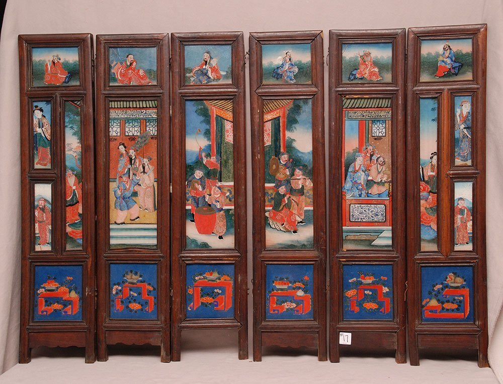 6 panels (detached from each other) Chinese reverse pai