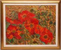 Large Floral Original Painting on canvas by Huong 36