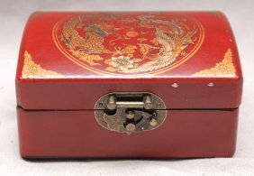 """Chinese hinged box with calligraphy inside, """"story"""