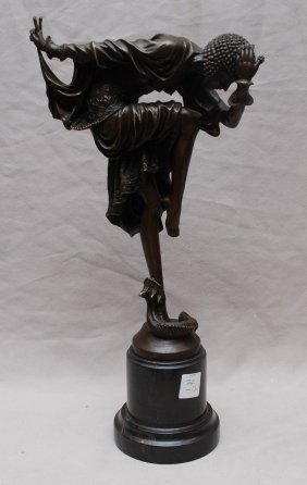 "Bronze Snake Dancer, After Clodion, 12""h"