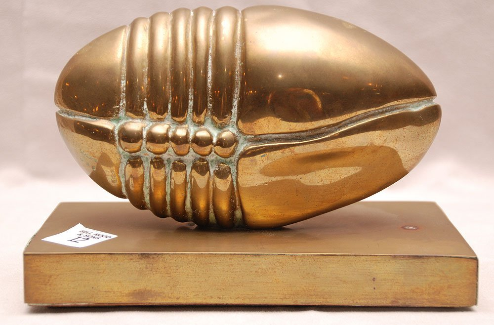 """Bronze oval free form sculpture on base,  4""""h x 7 1/2""""w"""