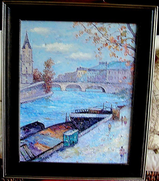 John Clymer (English b1932) Paris Oil An impressionist