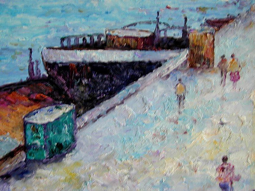 John Clymer (English b1932) Paris Oil An impressionist  - 4