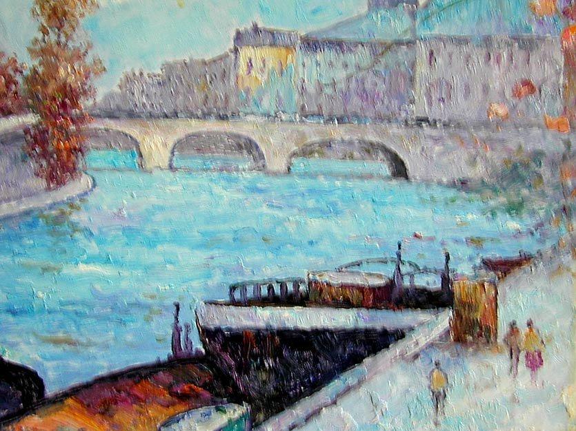 John Clymer (English b1932) Paris Oil An impressionist  - 5