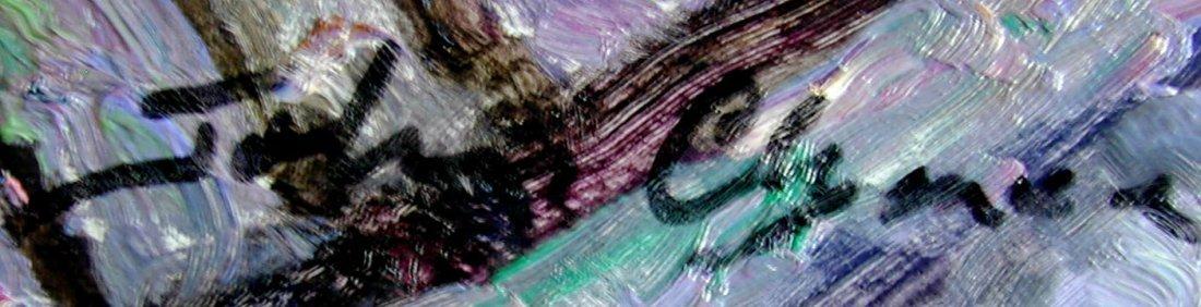 John Clymer (English b1932) Paris Oil An impressionist  - 6