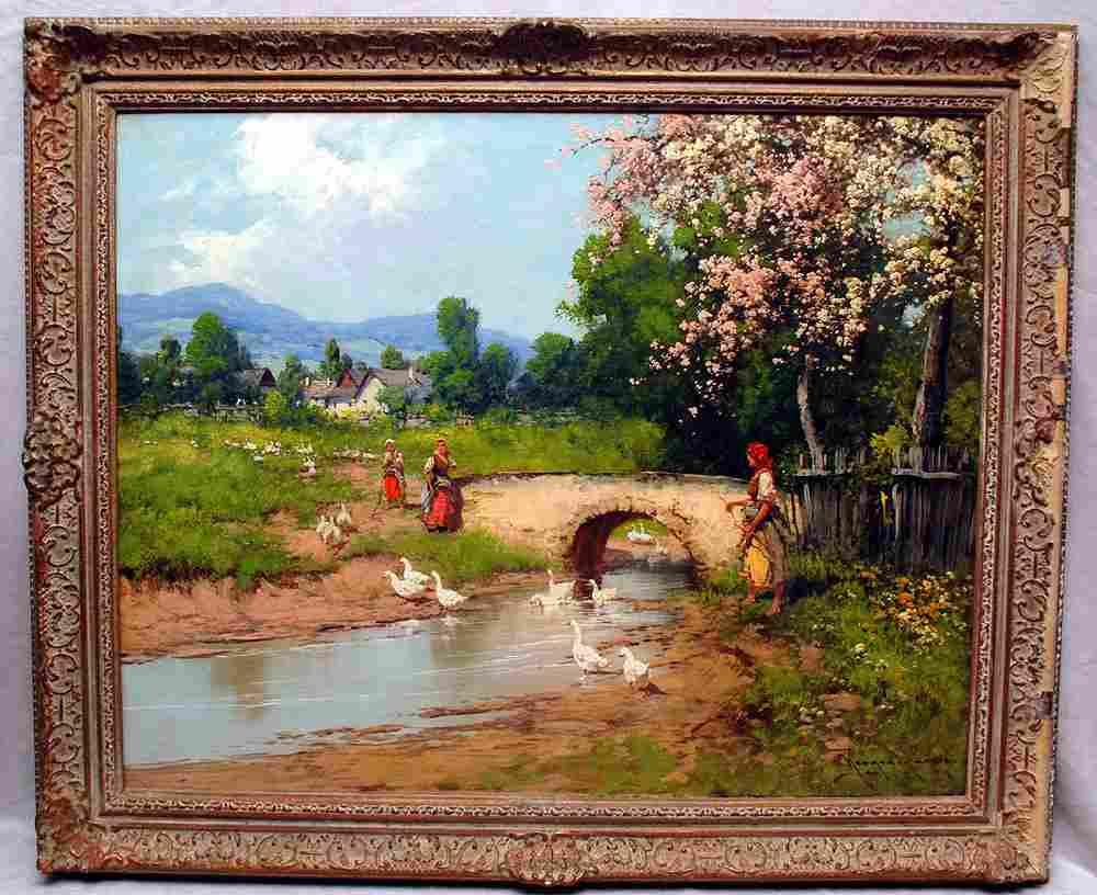 Laszlo Neogrady (HUNGARIAN, 1896-1962), oil on canvas,