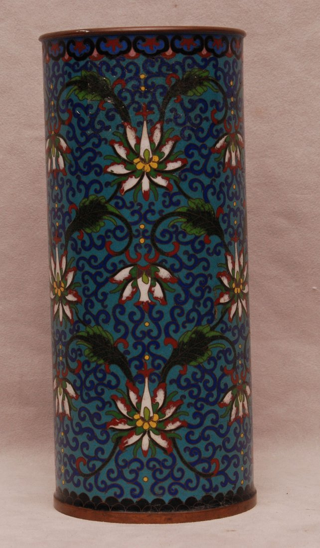 Chinese Cloisonné Cylinder Shape Vase in the Ming