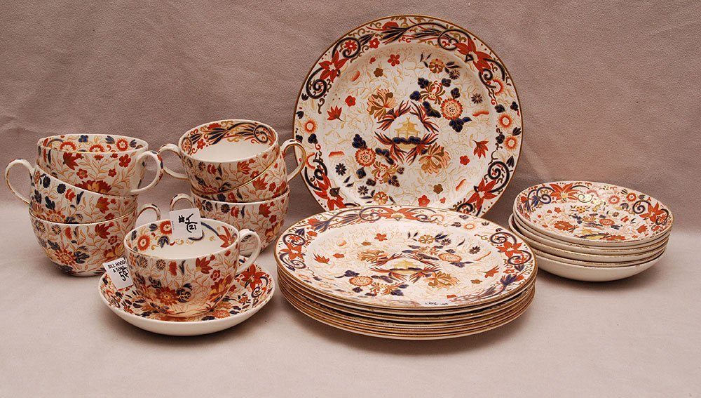 """7 Wedgwood plates (9""""dia), 7 cups and 7 saucers, faded"""