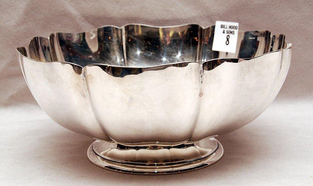 "Gorham sterling bowl in blossom form, 3 3/4""h x 8""w,"