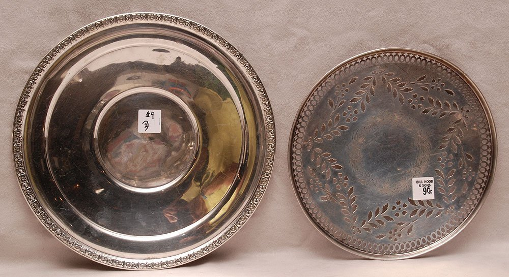 2 sterling plates, reticulated (11ozt) other (13ozt)