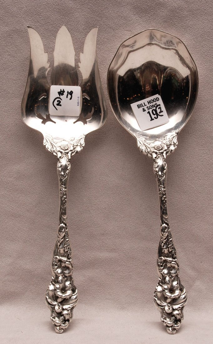 """Pair sterling Reed & Barton serving pieces, """"Les Six"""