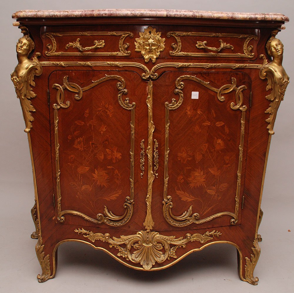 French Louis XV style credenza with single drawer and