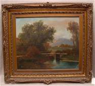 Pr. Antique oil on canvas paintings, one signed Redfern