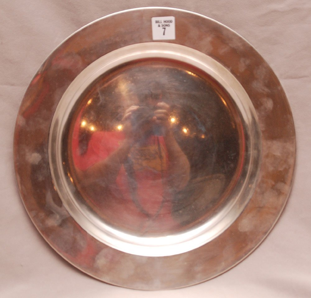 Large Sterling Bowl by John Cobrum (Boston) Made for Sh