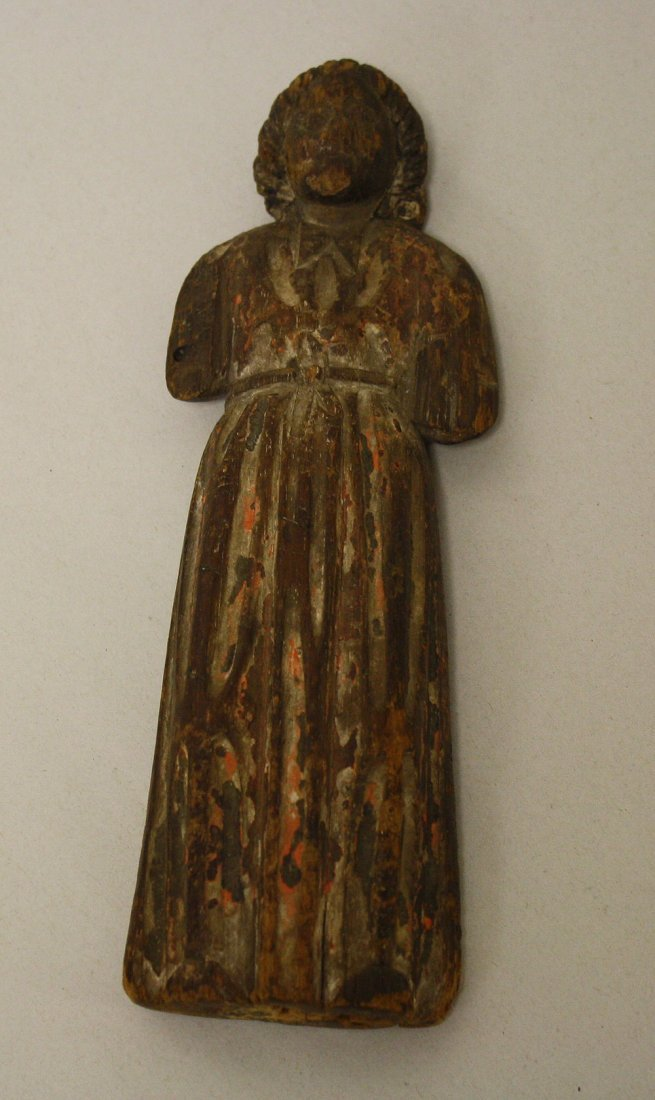 19th Cent Carved Wood Santos.  Condition: good for it's