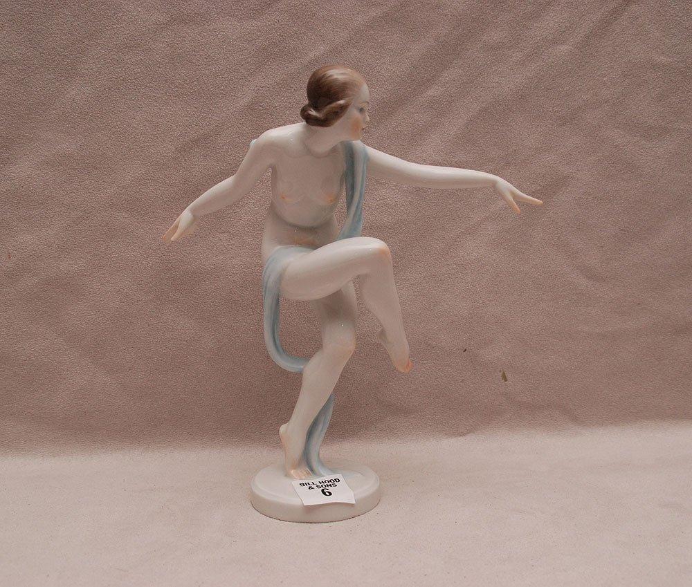 "Herend ballerina, 8""h x 7 1/2""w"