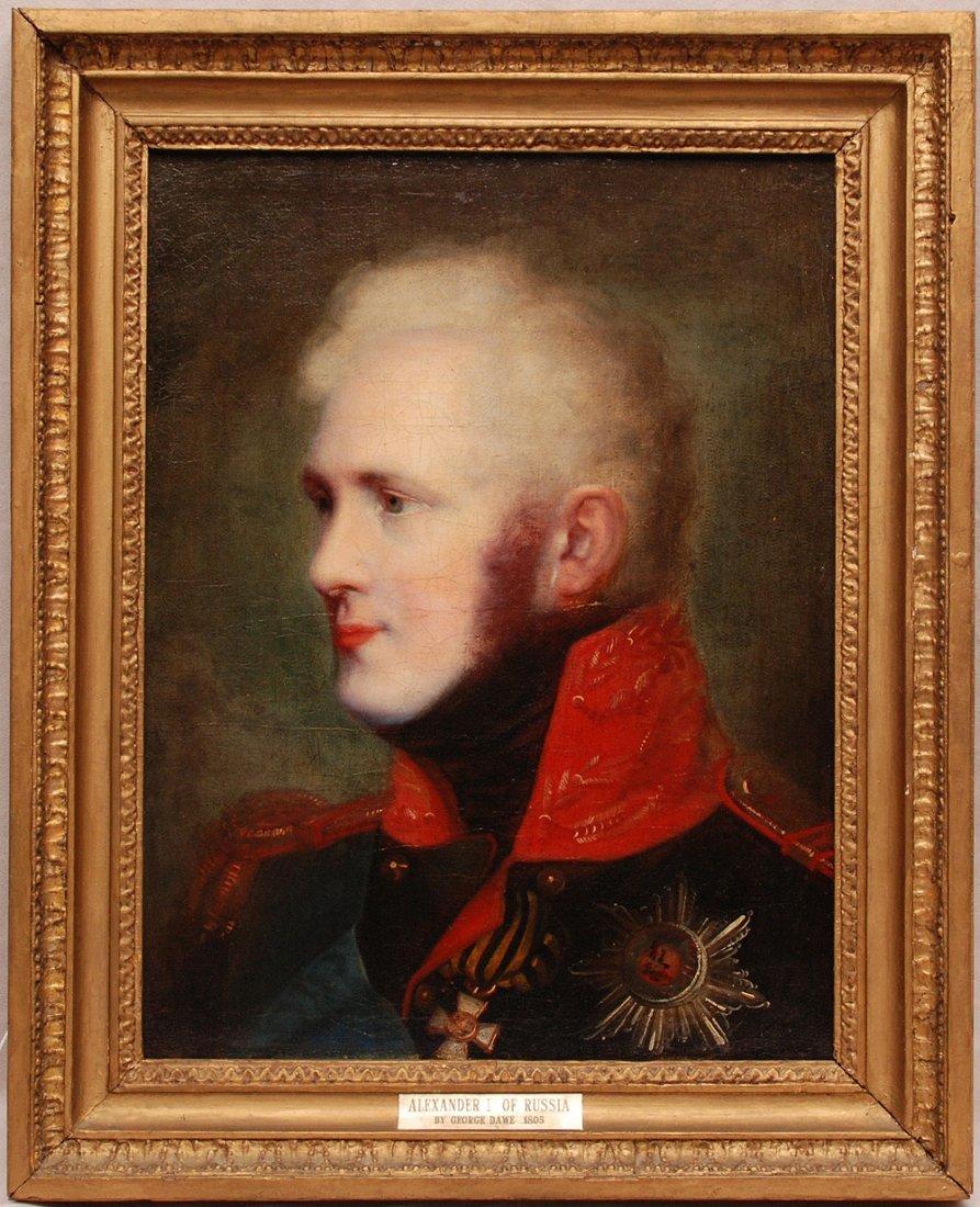 George Dawe Engl b. 1781 Portrait of Tsar Alexander I