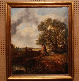 """JOHN CONSTABLE, British 1776 -1837, attributed, """"The"""