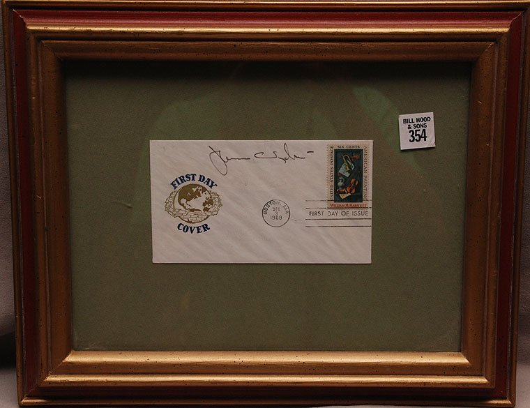 Jamie Wyeth signed 10th day cover U.S stamp