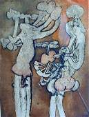 Roberto Matta Chile 19112002 Color Etching Titled