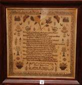 19th Century Sampler Mary Harrison age 12 has few