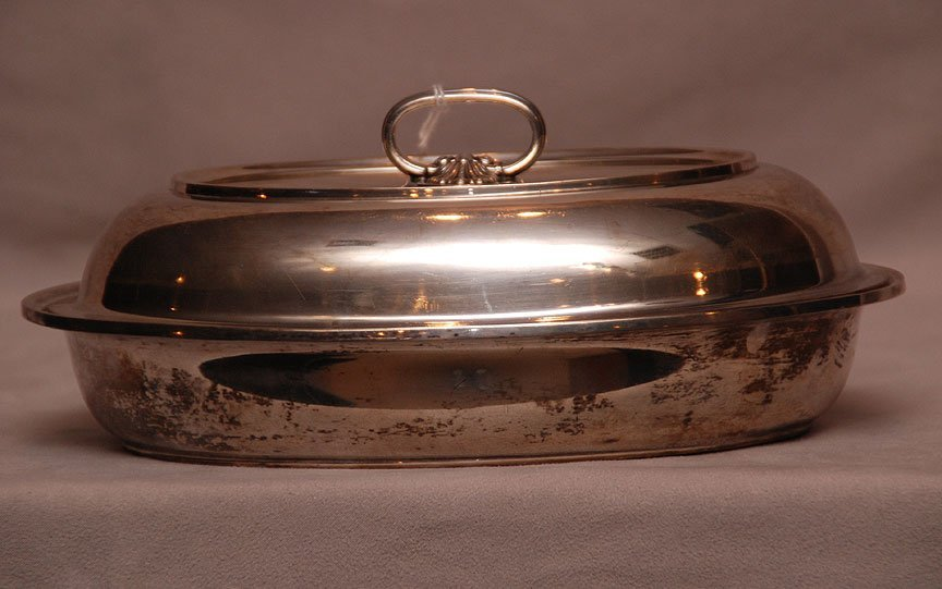 Fisher sterling covered vegetable serving bowl, 19ozt,