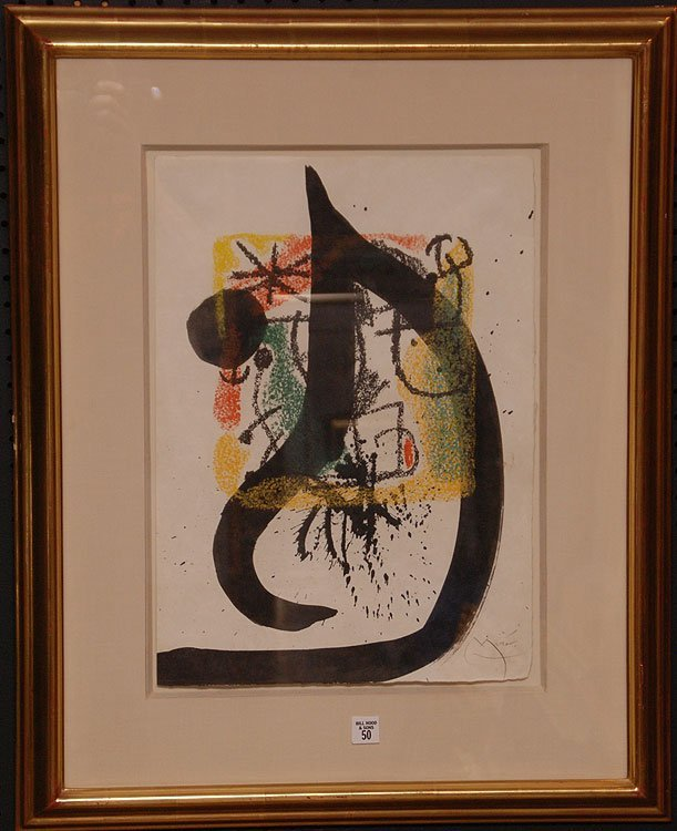 Joan Miro  (Spain 1893 - 1983) Ink Drawing over