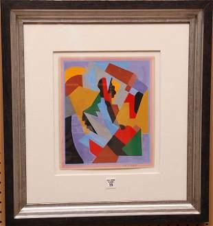 Albert Gleizes (French 1881 - 1953) Gouache, Cubist