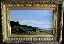 Alexandre Defaux (Fr 1926-1900) Coastal Scene O/C 19thc