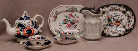 Lot of 19th Cent English Porcelain.  Including: One