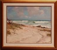 Emile Albert Gruppe  FLORIDA PAINTING BEACH SCENE