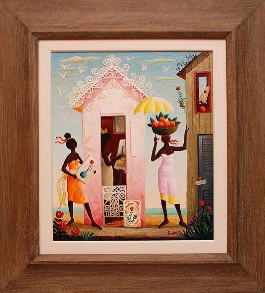 Orville Bulman (American 1904-1978) oil on canvas, titl