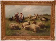 Cornelis van Leemputten (BELGIAN 1841-1902) & Th'odore