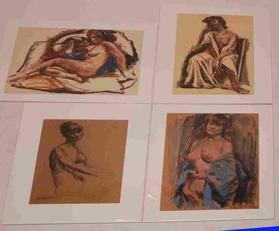 4 drawing by Emil Jean Kosa Jr.  (California 1903 -