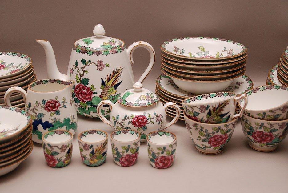 "Crown Staffordshire china ware set ""Rock Bird"" pattern - 2"