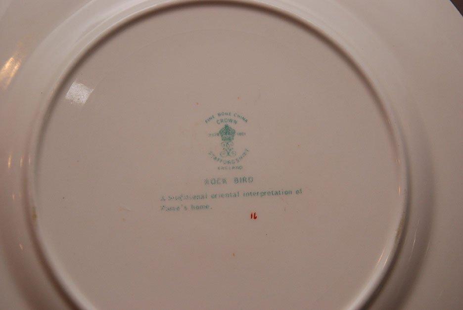 "Crown Staffordshire china ware set ""Rock Bird"" pattern - 4"
