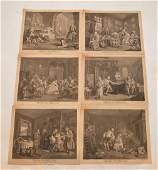 6 pcs William Hogarth British Marriage a la mode