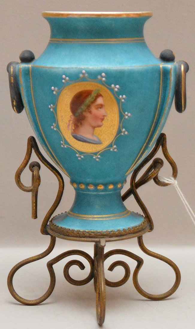 Continental Porcelain Vase mounted in a gilt metal