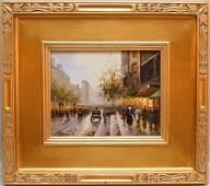 "Paul Renard, ""Paris Street Scene"", oil on canvas,"