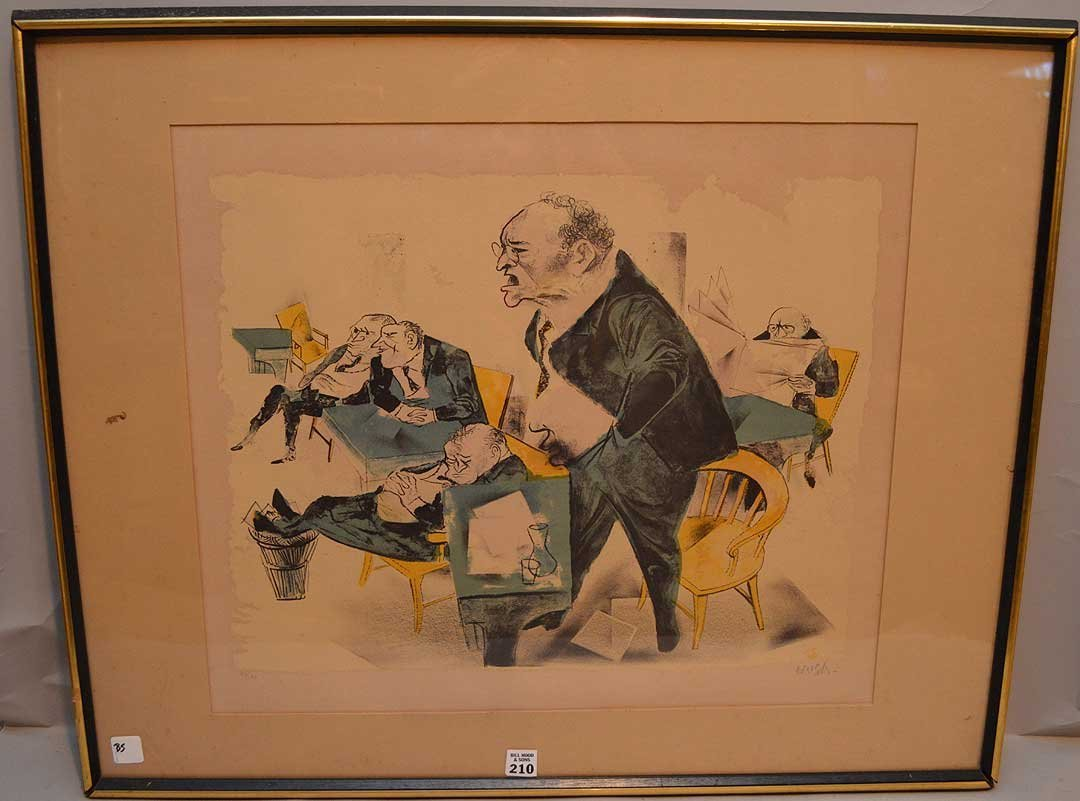 William Gropper (American, 1897-1977), Lithograph of